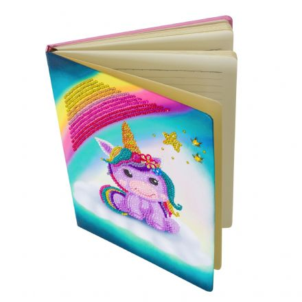 Crystal Art D.I.Y Notebook, Unicorn Smile